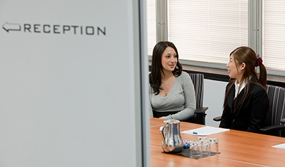 Business people talking in a meeting room